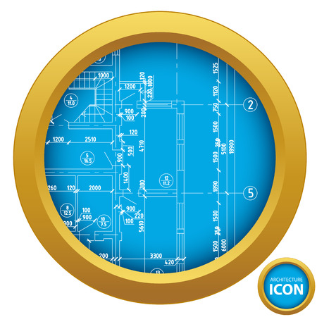 Interesting architectural icon in unique style. Vector illustration Stock Vector - 24505587