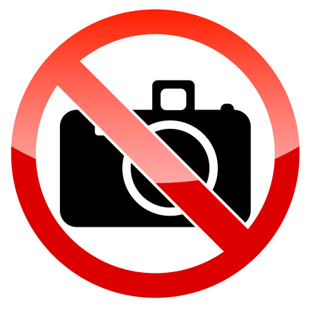 No photography sign on a white background. Vector illustration Stock Vector - 24680447
