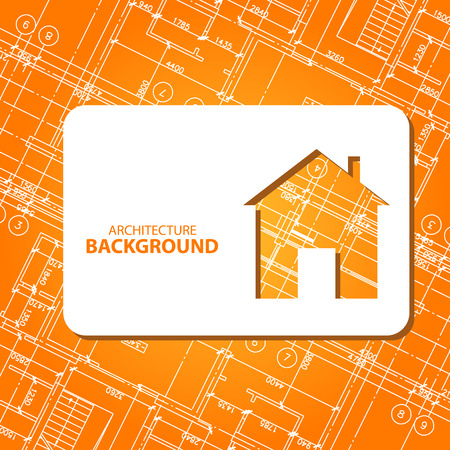 New architecture card for any design. Vector illustration