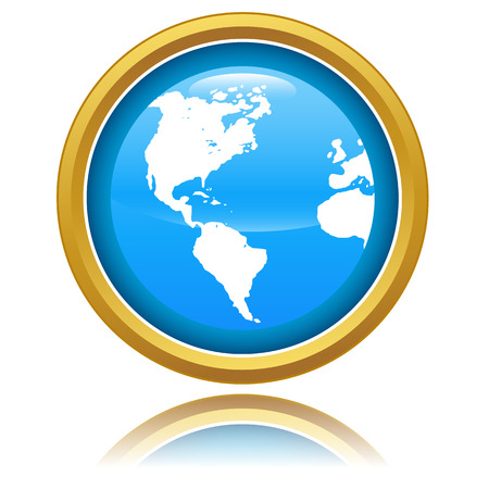 globus: New Globe Icon On A White Background