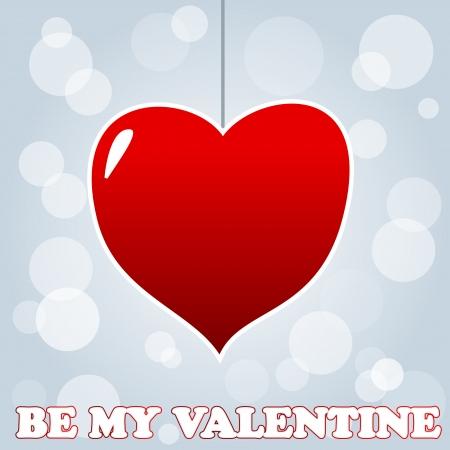 glued: New best Valentine`s day card. illustration