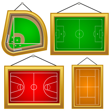 set of playgrounds on a white Stock Vector - 25521581
