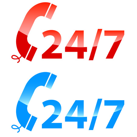 Call center vector icons on a white background