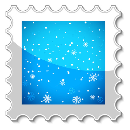 Unique stamp of Merry Christmas on a white background Vector