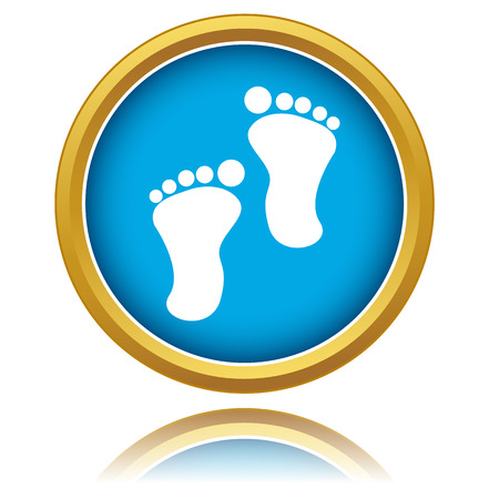 New footprints icon on a white background. Vector illustration Vector