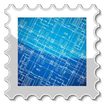 New architecture stamp for any design. Vector illustration Vector