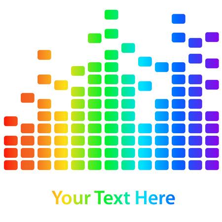 New rainbow equalizer on a white background. Vector illustration Illustration