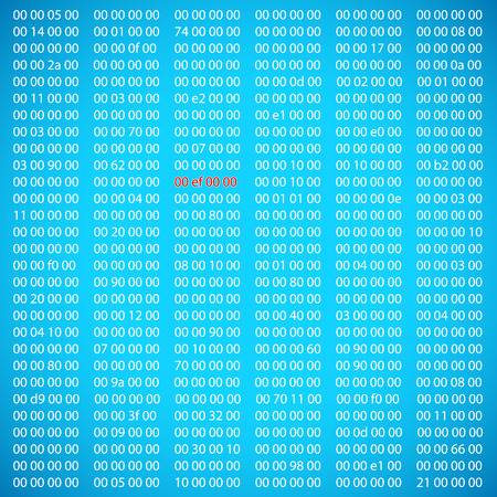 Blue binary computer code repeating vector background illustration Vector