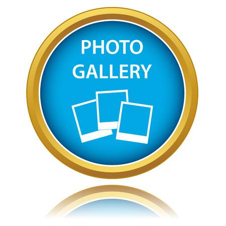 photo gallery: Galer�a de fotos icono sobre un fondo blanco. Ilustraci�n vectorial
