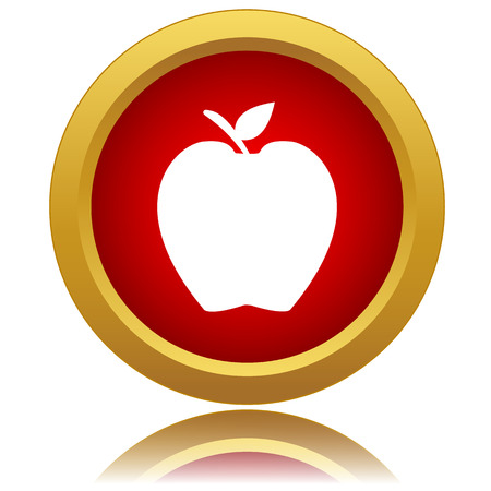 New apple icon on a white background. Vector illustration Vector