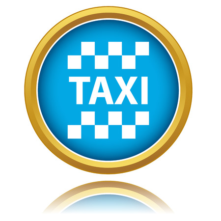 New taxi icon on a white background Vector