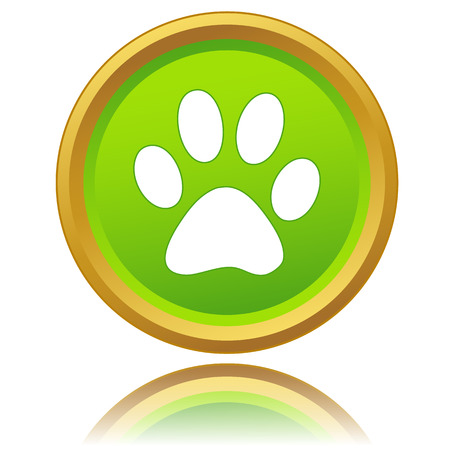 New paw of an animal icon on a white background Vector