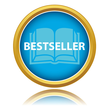 Blue gold best seller icon on a white background Vector