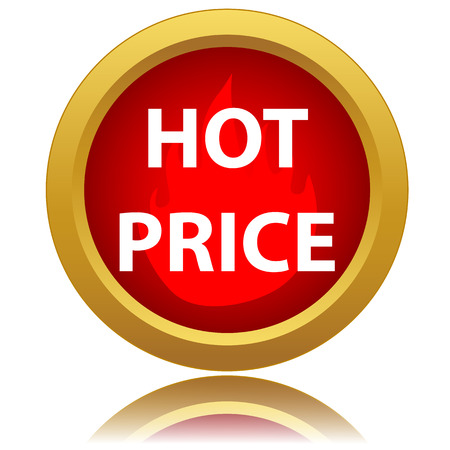 hot price: Hot price icon on a white background Illustration