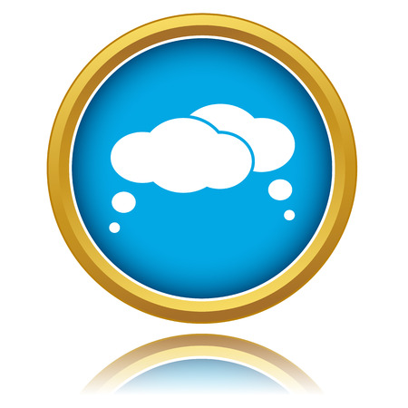 blue clouds: Blue clouds icon on a white background Illustration