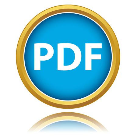 Pdf download icon on a white background Vector