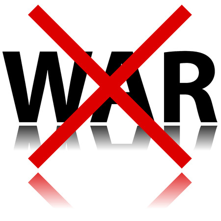 Illustration of no war sign on white background Vector