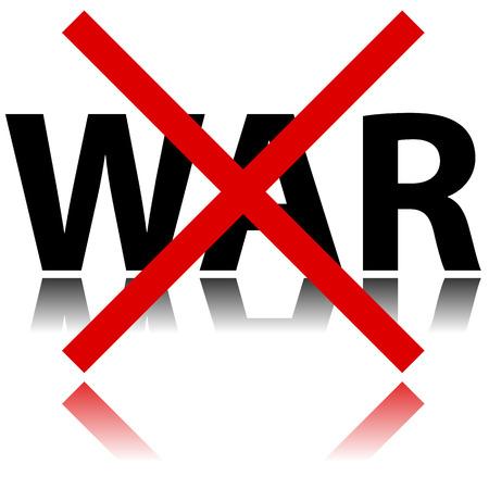 Illustration of no war sign on white background Vector