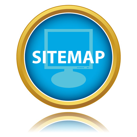Sitemap button on a white background. Vector illustration Vector