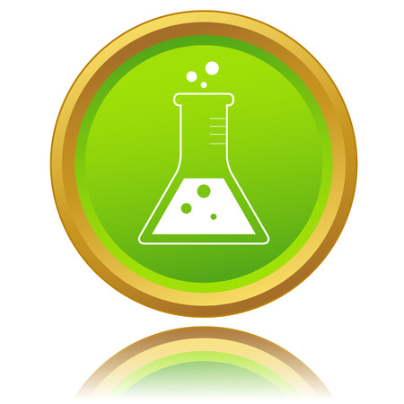 seething: Laboratory glass icon on a white background