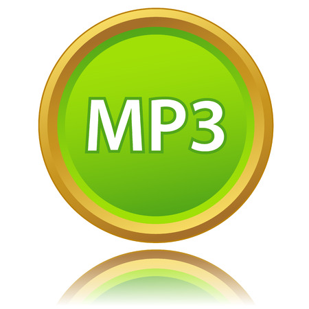 uncompressed: New mp3 icon on a white background. Vector illustration