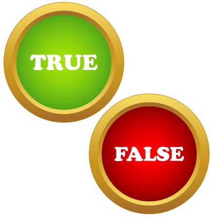 true or false: True and false icons on a white background
