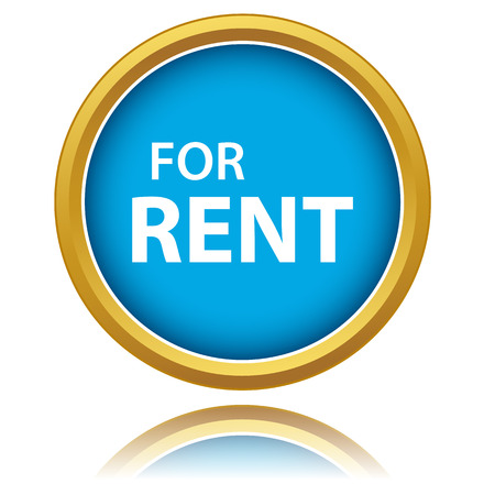 house clearance: New for rent icon on a white background Illustration