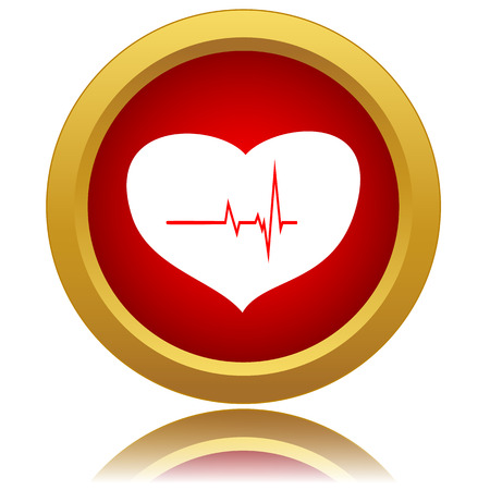 Heartbeat sign icon. Cardiogram symbol. Vector illustration Vector