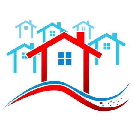 New Houses Real Estate Frame. Vector illustration Vector