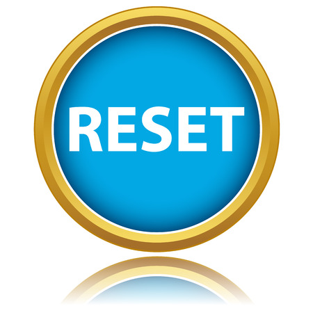override: Reset icon on a white background. Vector illustration