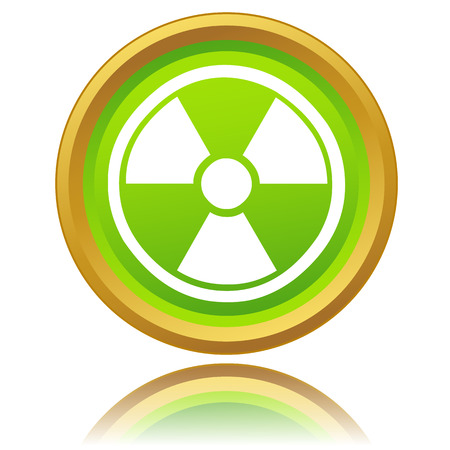 isotope: Nuclear icon on a white background. Vector illustration