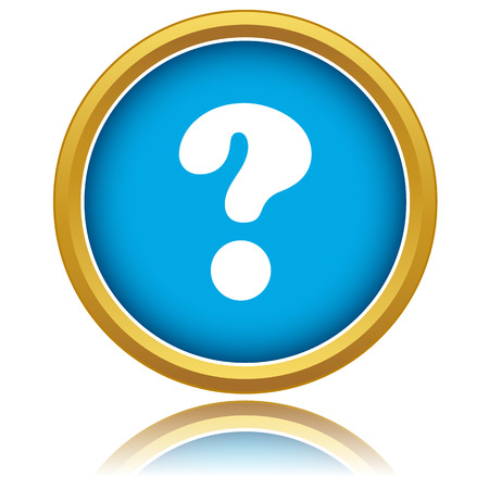 Question icon on a white background. Vector illustration Vettoriali