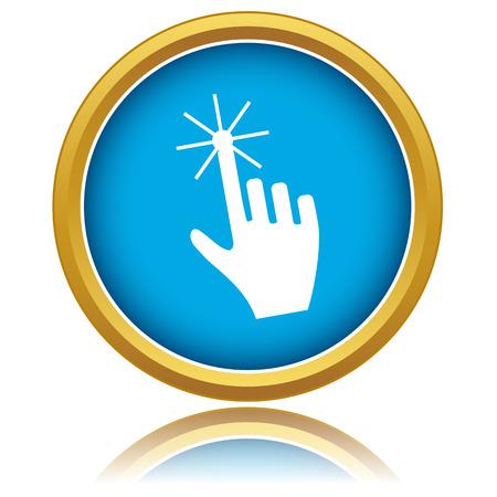 vote here: Click here icon over white background. Vector illustration Illustration