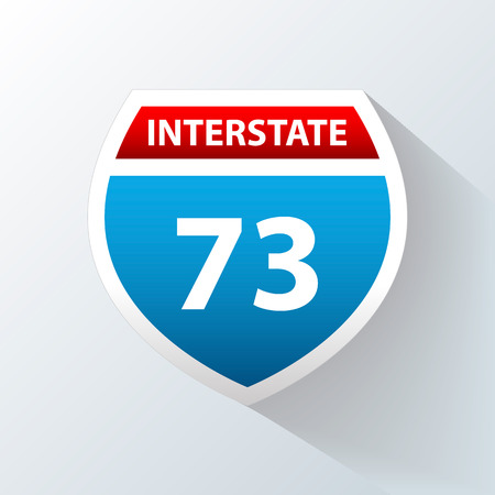 motorists: Interstate Sign on a white background. Vector illustration Illustration