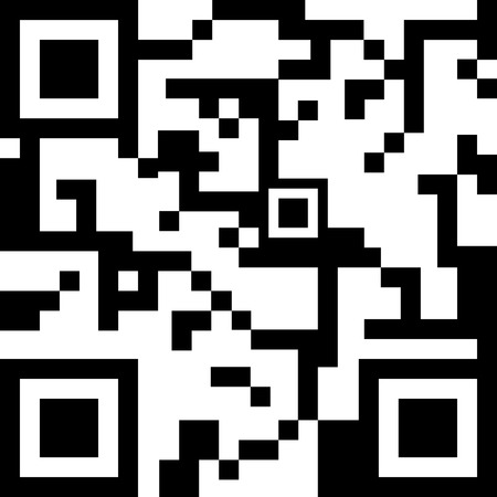 QR code for smart phone. Vector illustration Vector