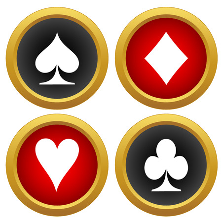 preference: Playing cards icons vector on a white background