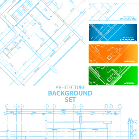 New architecture background set for any design. Vector illustration Vector