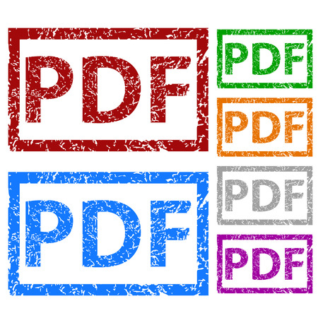 PDF grunge rubber stamp set Vector