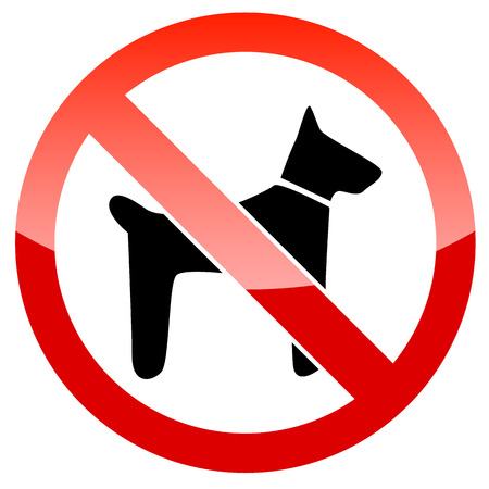 designated: No dogs sign vector