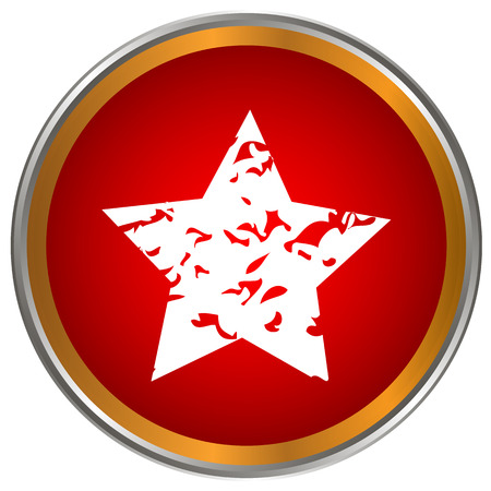 Red star icon on a white background Vector