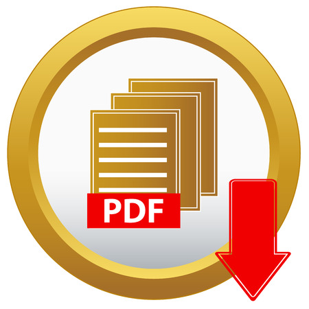 pdf download button on a white background Vector