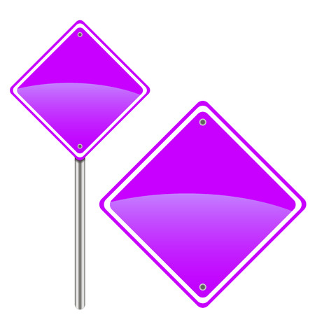 Two purple road signs for your design Vector