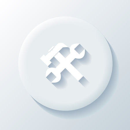 Blue repairs icon on a white background