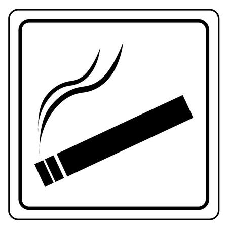 Black smoking area label Vector