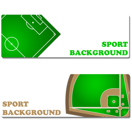 infield: New sport backgrounds