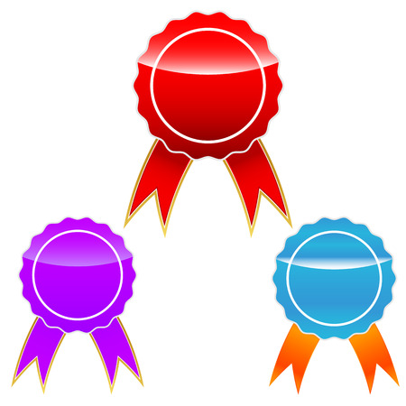 Medals set Vector