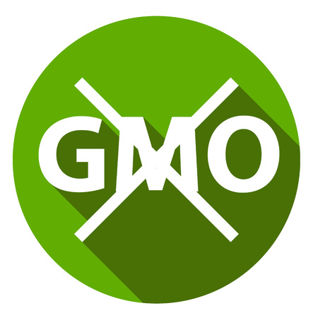 genetically modified crops: Editable GMO-free flat sign