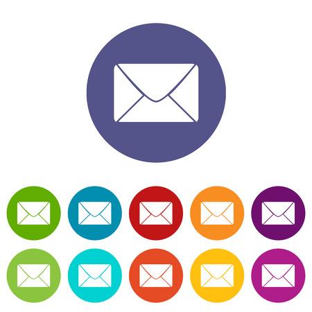 Mail icon plat Banque d'images - 36287222
