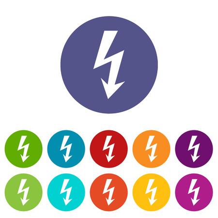 immediately: Lightning flat icon