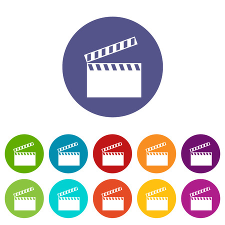 cine: Movie flat icon Illustration